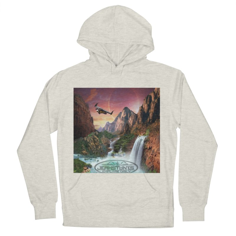 WINGMAN EXPLORE DAILY JERKSTUNTS LIFESTYLE Men's French Terry Pullover Hoody by ExploreDaily's Artist Shop