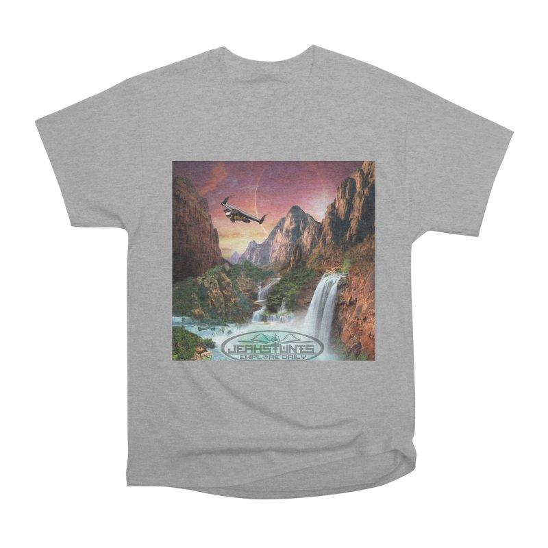 WINGMAN EXPLORE DAILY JERKSTUNTS LIFESTYLE Men's Heavyweight T-Shirt by ExploreDaily's Artist Shop