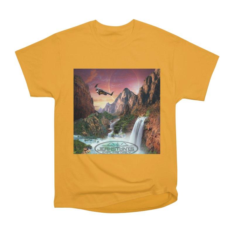WINGMAN EXPLORE DAILY JERKSTUNTS LIFESTYLE Women's Heavyweight Unisex T-Shirt by ExploreDaily's Artist Shop