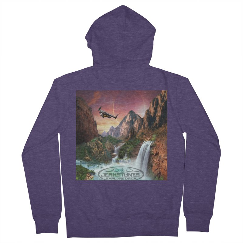WINGMAN EXPLORE DAILY JERKSTUNTS LIFESTYLE Men's French Terry Zip-Up Hoody by ExploreDaily's Artist Shop