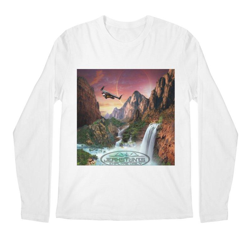 WINGMAN EXPLORE DAILY JERKSTUNTS LIFESTYLE Men's Regular Longsleeve T-Shirt by ExploreDaily's Artist Shop