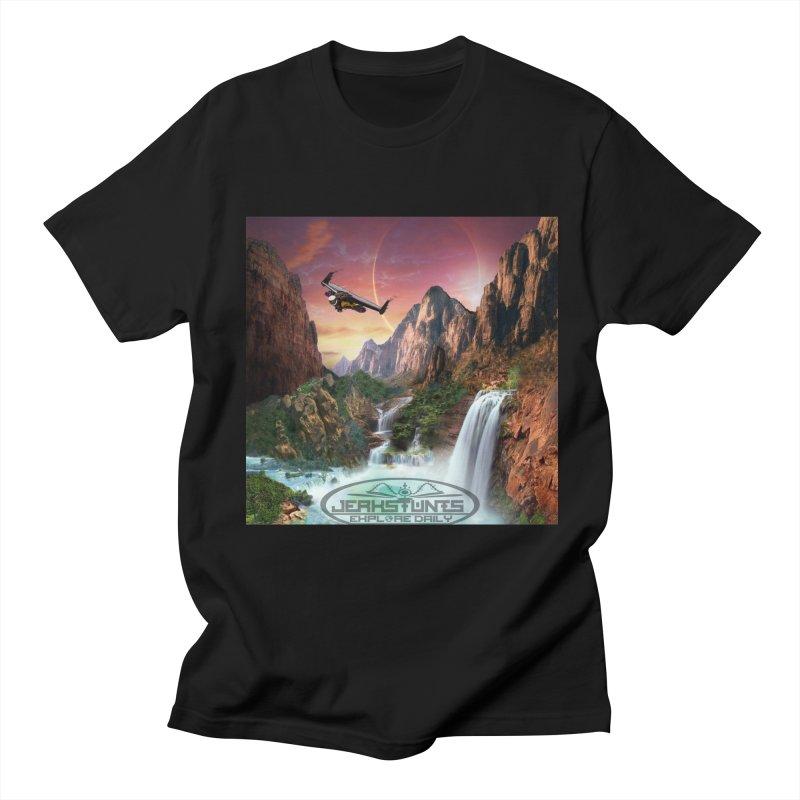 WINGMAN EXPLORE DAILY JERKSTUNTS LIFESTYLE Men's T-Shirt by ExploreDaily's Artist Shop