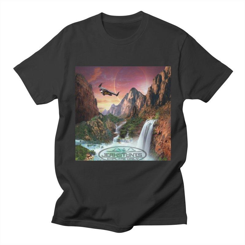 WINGMAN EXPLORE DAILY JERKSTUNTS LIFESTYLE Men's Regular T-Shirt by ExploreDaily's Artist Shop