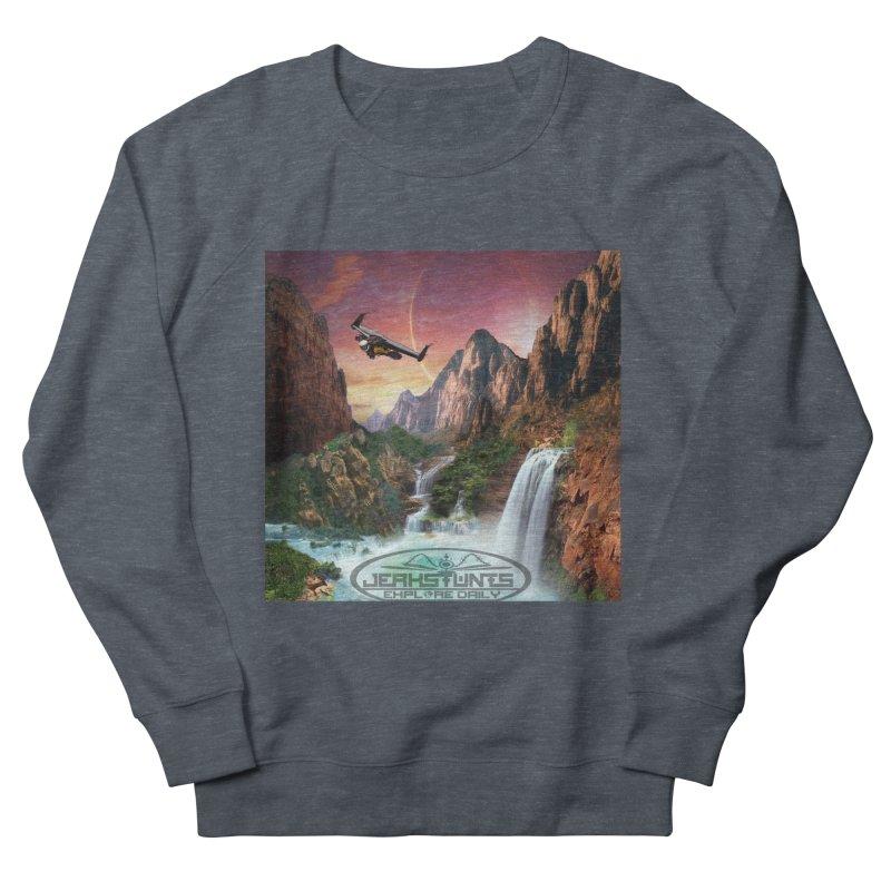 WINGMAN EXPLORE DAILY JERKSTUNTS LIFESTYLE Women's French Terry Sweatshirt by ExploreDaily's Artist Shop
