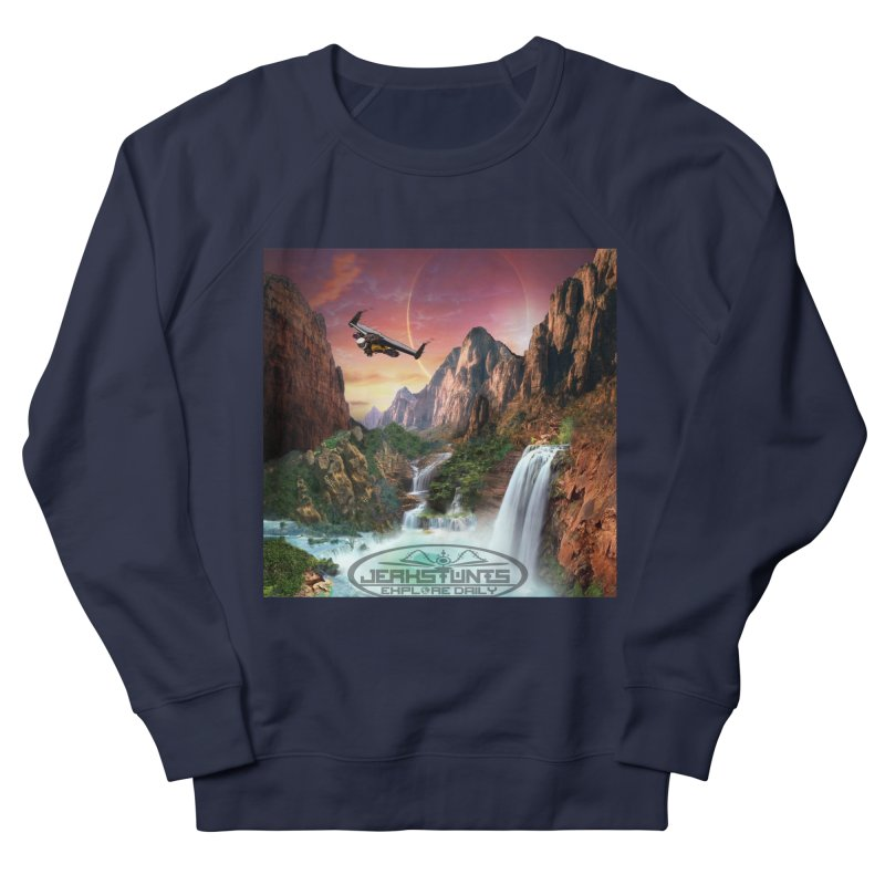 WINGMAN EXPLORE DAILY JERKSTUNTS LIFESTYLE Women's French Terry Sweatshirt by ExploreDaily's Artist Shop