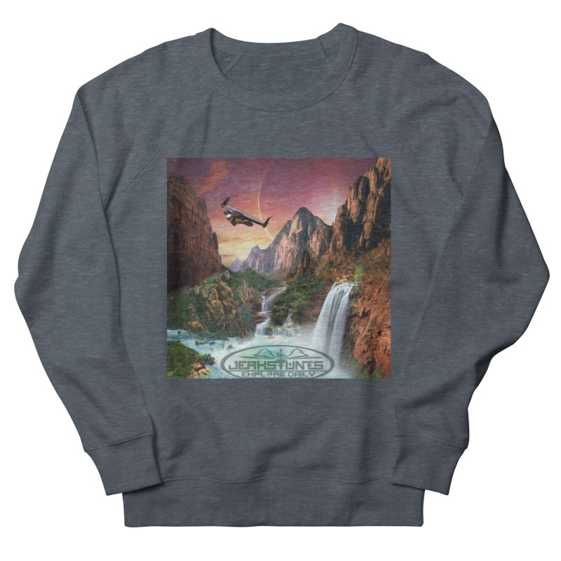 WINGMAN EXPLORE DAILY JERKSTUNTS LIFESTYLE Men's French Terry Sweatshirt by ExploreDaily's Artist Shop
