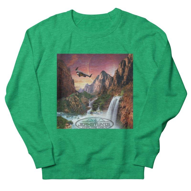 WINGMAN EXPLORE DAILY JERKSTUNTS LIFESTYLE Men's French Terry Sweatshirt by ExploreDaily's Artist Shop