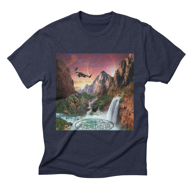 WINGMAN EXPLORE DAILY JERKSTUNTS LIFESTYLE Men's Triblend T-Shirt by ExploreDaily's Artist Shop