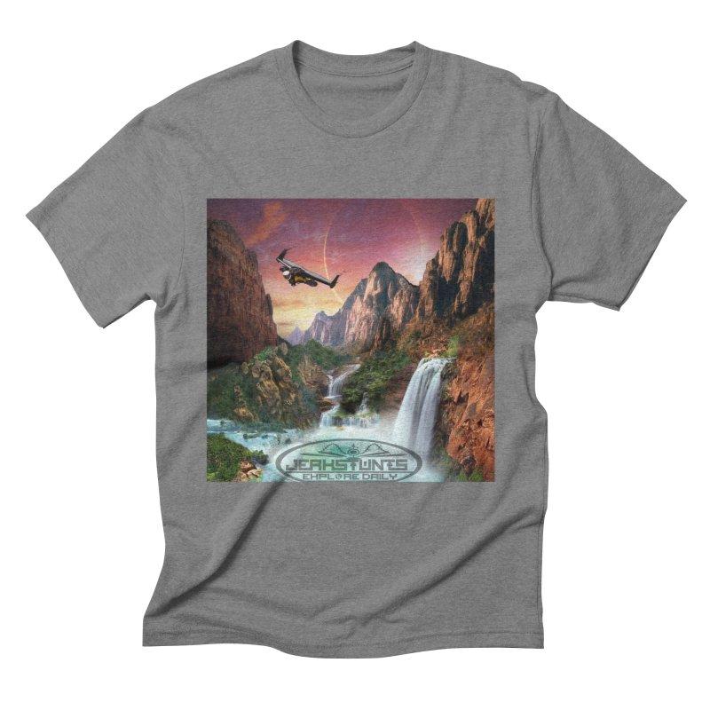 WINGMAN EXPLORE DAILY JERKSTUNTS LIFESTYLE Men's Triblend T-Shirt by ExploreDaily's Artist Shop