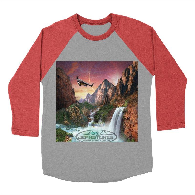 WINGMAN EXPLORE DAILY JERKSTUNTS LIFESTYLE Women's Baseball Triblend Longsleeve T-Shirt by ExploreDaily's Artist Shop