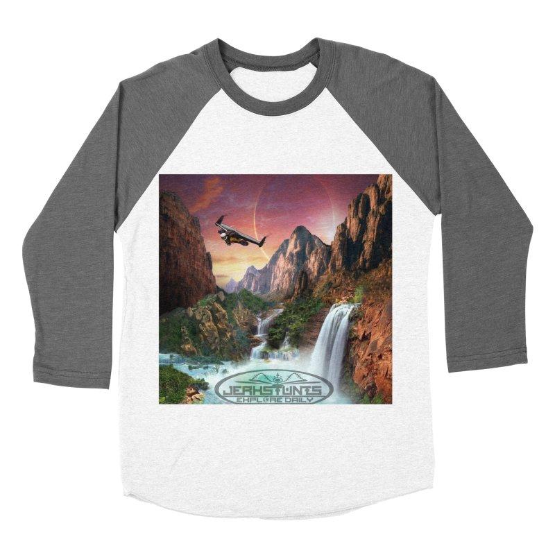 WINGMAN EXPLORE DAILY JERKSTUNTS LIFESTYLE Men's Baseball Triblend Longsleeve T-Shirt by ExploreDaily's Artist Shop