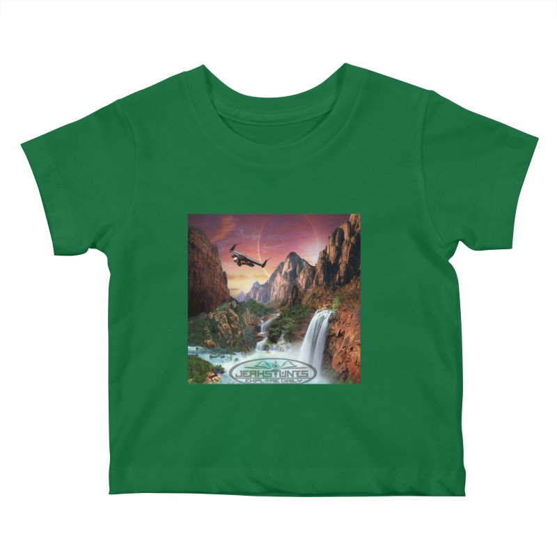 WINGMAN EXPLORE DAILY JERKSTUNTS LIFESTYLE Kids Baby T-Shirt by ExploreDaily's Artist Shop