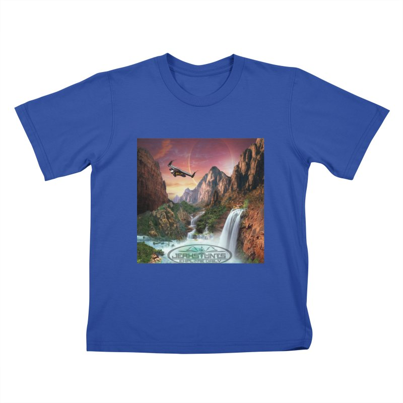 WINGMAN EXPLORE DAILY JERKSTUNTS LIFESTYLE Kids T-Shirt by ExploreDaily's Artist Shop