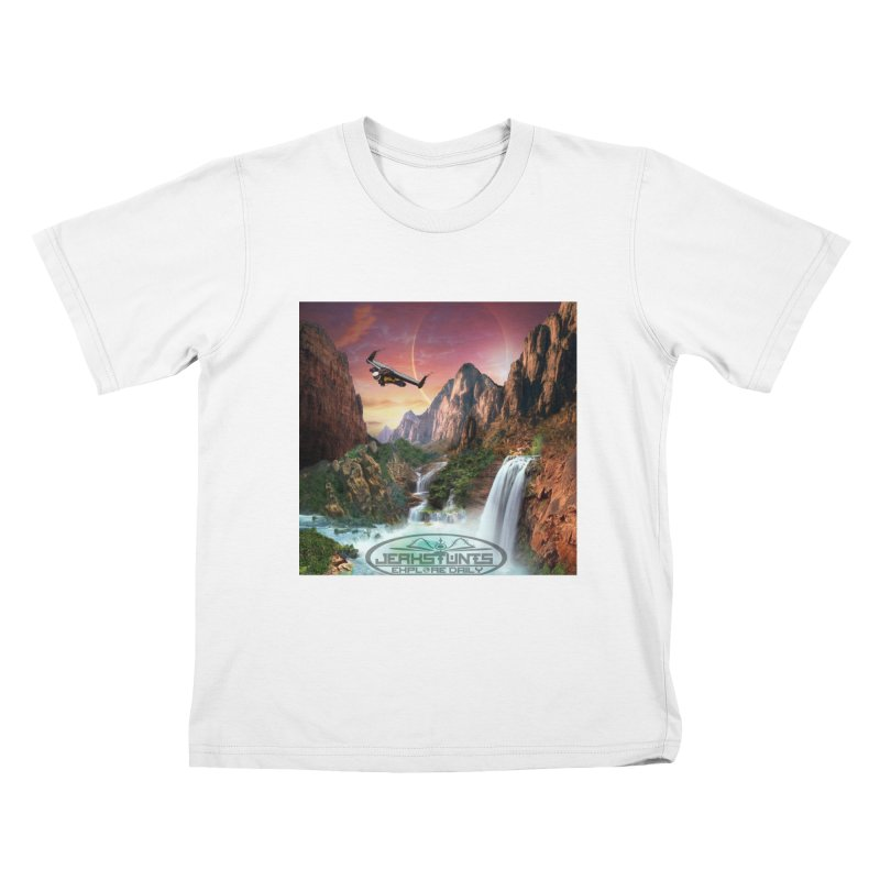 WINGMAN EXPLORE DAILY JERKSTUNTS LIFESTYLE Kids T-Shirt by ExploreDaily's Artist Shop