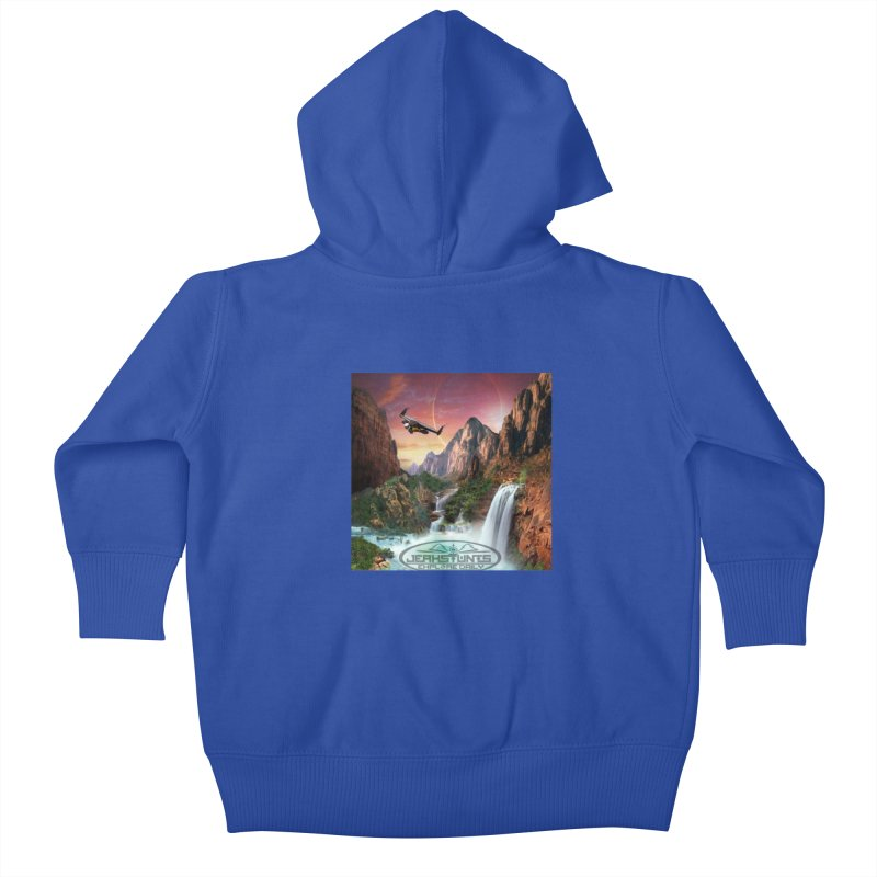 WINGMAN EXPLORE DAILY JERKSTUNTS LIFESTYLE Kids Baby Zip-Up Hoody by ExploreDaily's Artist Shop
