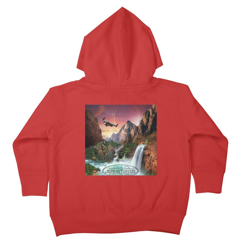 WINGMAN EXPLORE DAILY JERKSTUNTS LIFESTYLE Kids Toddler Zip-Up Hoody by ExploreDaily's Artist Shop