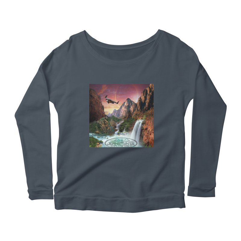 WINGMAN EXPLORE DAILY JERKSTUNTS LIFESTYLE Women's Scoop Neck Longsleeve T-Shirt by ExploreDaily's Artist Shop