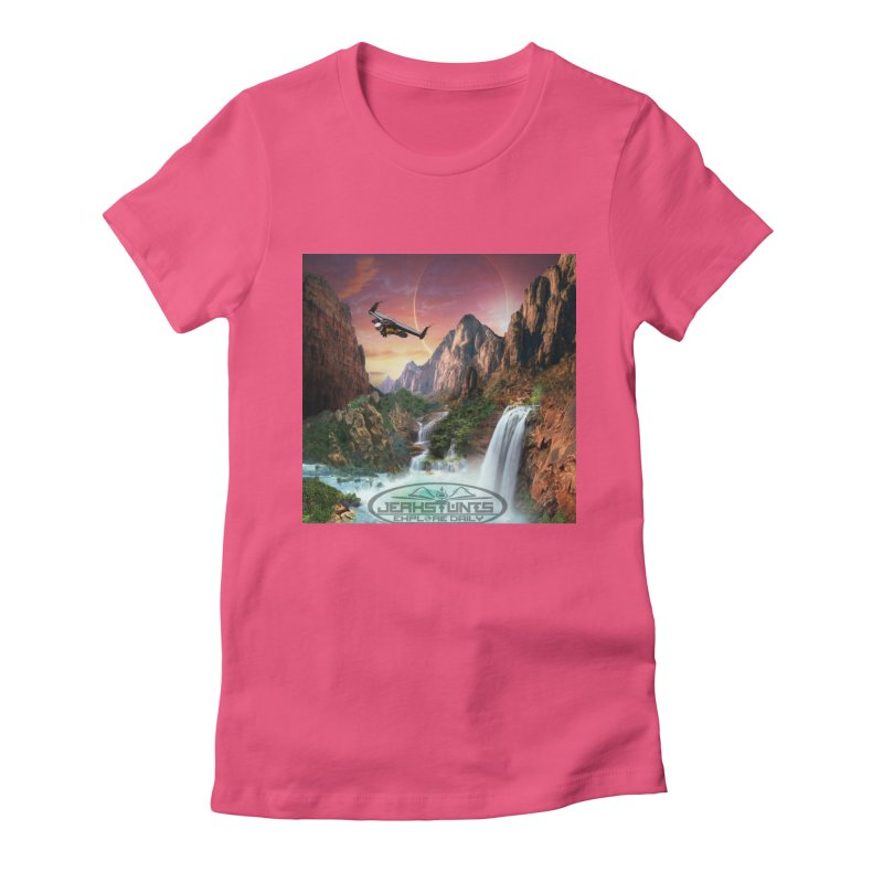 WINGMAN EXPLORE DAILY JERKSTUNTS LIFESTYLE Women's Fitted T-Shirt by ExploreDaily's Artist Shop
