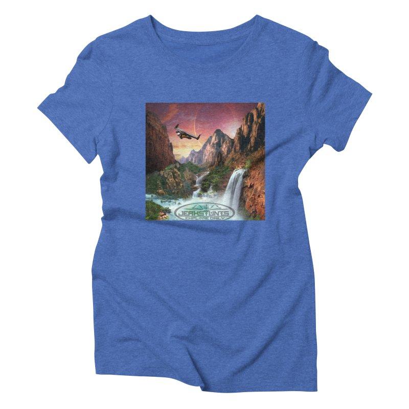 WINGMAN EXPLORE DAILY JERKSTUNTS LIFESTYLE Women's Triblend T-Shirt by ExploreDaily's Artist Shop