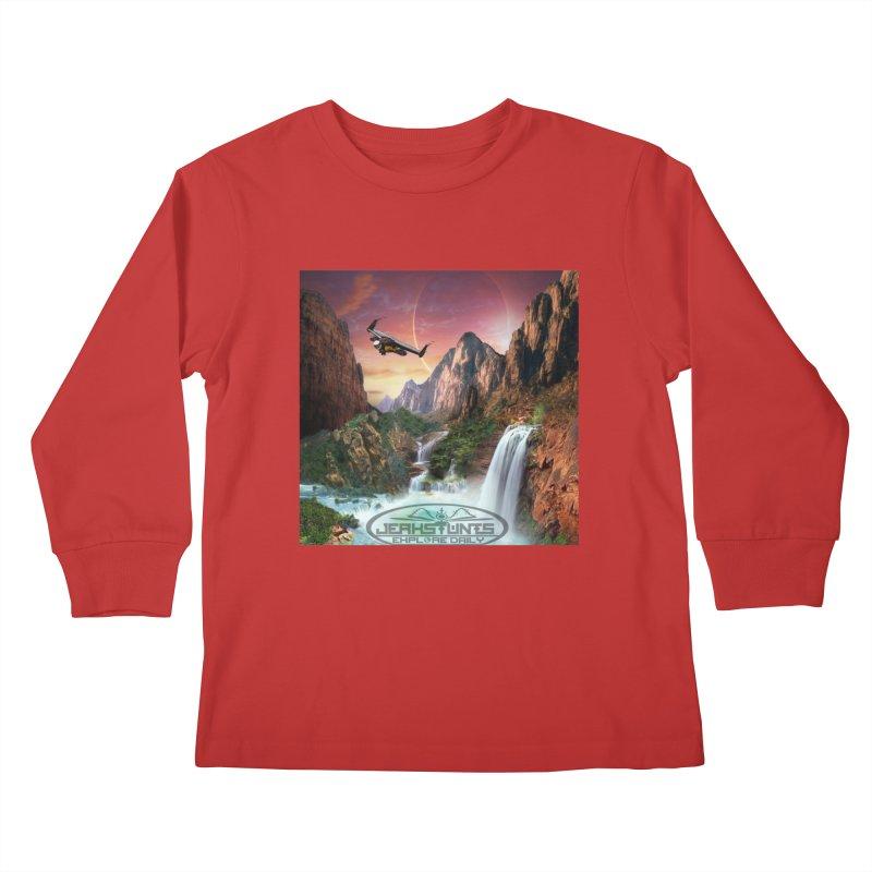 WINGMAN EXPLORE DAILY JERKSTUNTS LIFESTYLE Kids Longsleeve T-Shirt by ExploreDaily's Artist Shop