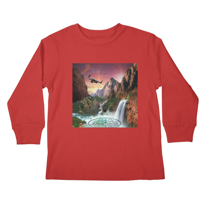 WINGMAN EXPLORE DAILY JERKSTUNTS LIFESTYLE Kids Longsleeve T-Shirt by ExploreDaily's Artist Shop