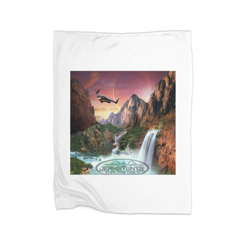 WINGMAN EXPLORE DAILY JERKSTUNTS LIFESTYLE Home Fleece Blanket Blanket by ExploreDaily's Artist Shop