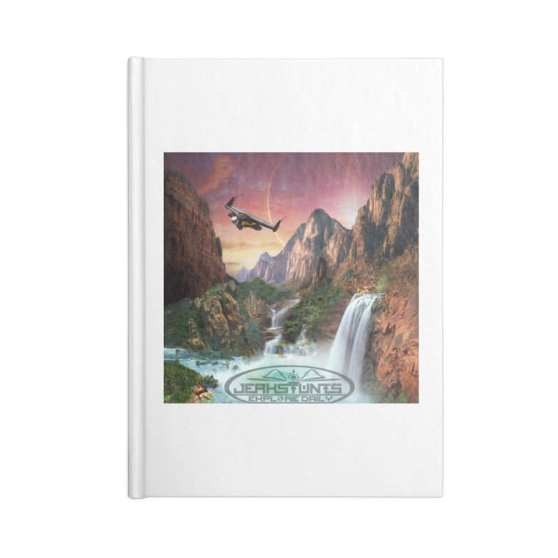WINGMAN EXPLORE DAILY JERKSTUNTS LIFESTYLE Accessories Lined Journal Notebook by ExploreDaily's Artist Shop