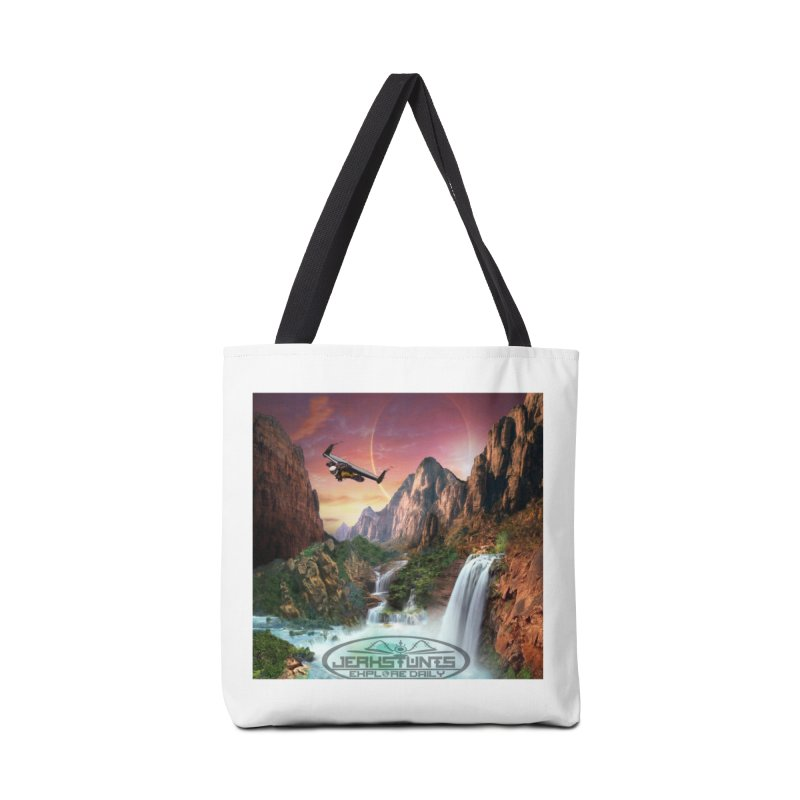WINGMAN EXPLORE DAILY JERKSTUNTS LIFESTYLE Accessories Tote Bag Bag by ExploreDaily's Artist Shop