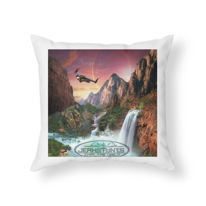 WINGMAN EXPLORE DAILY JERKSTUNTS LIFESTYLE Home Throw Pillow by ExploreDaily's Artist Shop