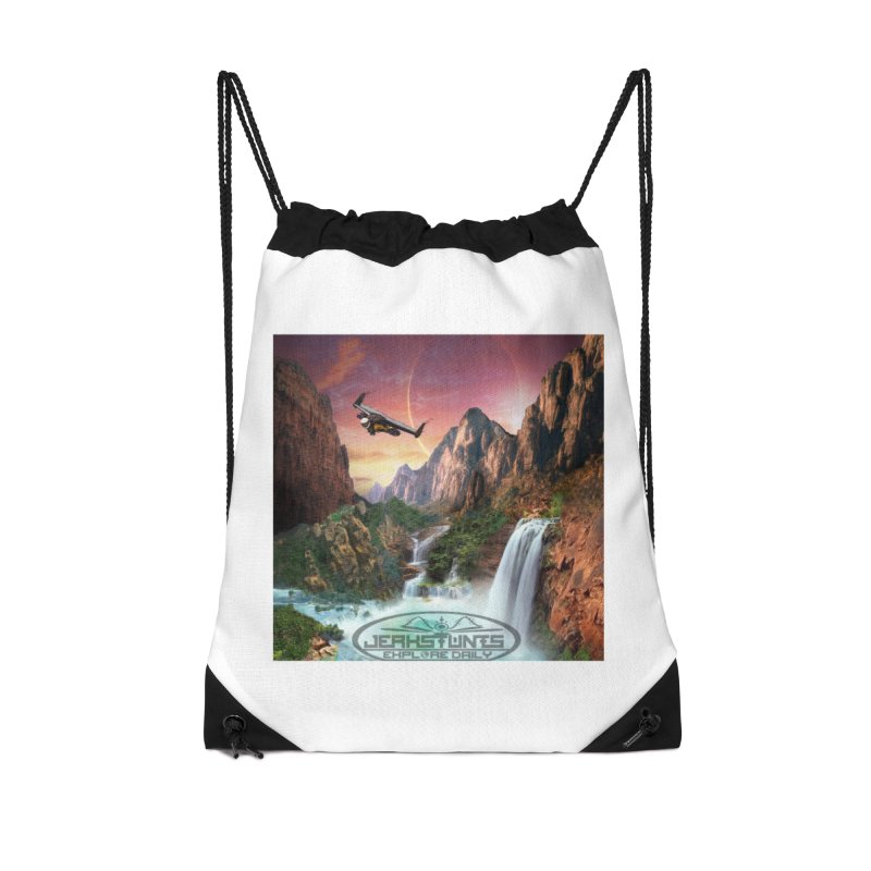 WINGMAN EXPLORE DAILY JERKSTUNTS LIFESTYLE Accessories Drawstring Bag Bag by ExploreDaily's Artist Shop