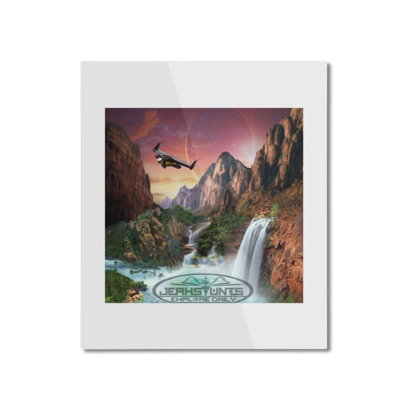 WINGMAN EXPLORE DAILY JERKSTUNTS LIFESTYLE Home Mounted Aluminum Print by ExploreDaily's Artist Shop