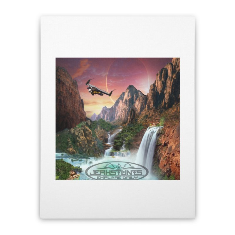 WINGMAN EXPLORE DAILY JERKSTUNTS LIFESTYLE Home Stretched Canvas by ExploreDaily's Artist Shop