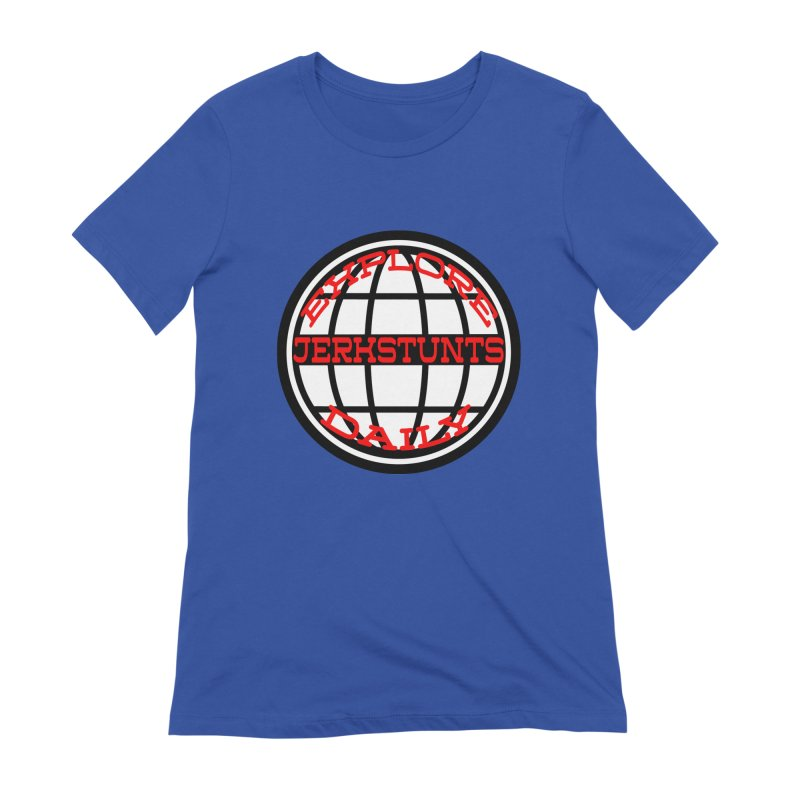 EXPLORE DAILY TECHGLOBE JERKSTUNTS Women's Extra Soft T-Shirt by ExploreDaily's Artist Shop