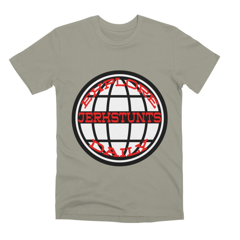 EXPLORE DAILY TECHGLOBE JERKSTUNTS Men's Premium T-Shirt by ExploreDaily's Artist Shop