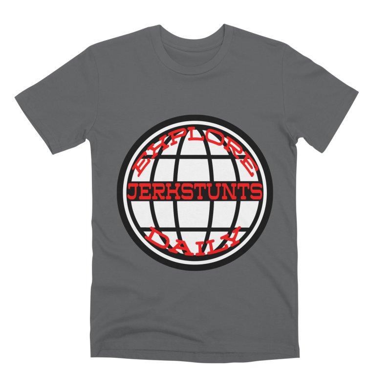 EXPLORE DAILY TECHGLOBE JERKSTUNTS Men's Premium T-Shirt by ExploreDaily's Artist Shop