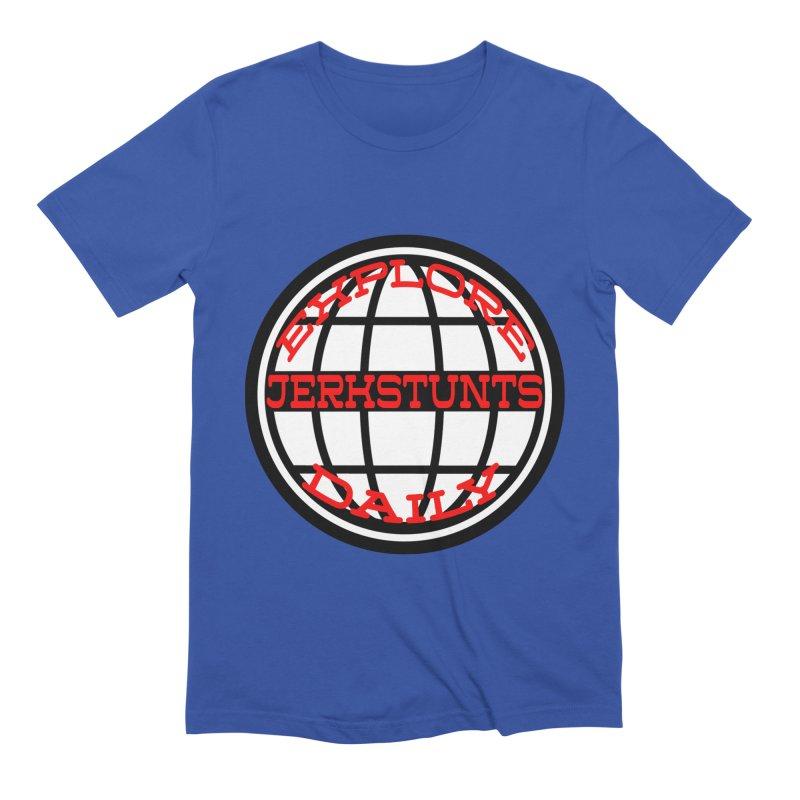 EXPLORE DAILY TECHGLOBE JERKSTUNTS Men's Extra Soft T-Shirt by ExploreDaily's Artist Shop