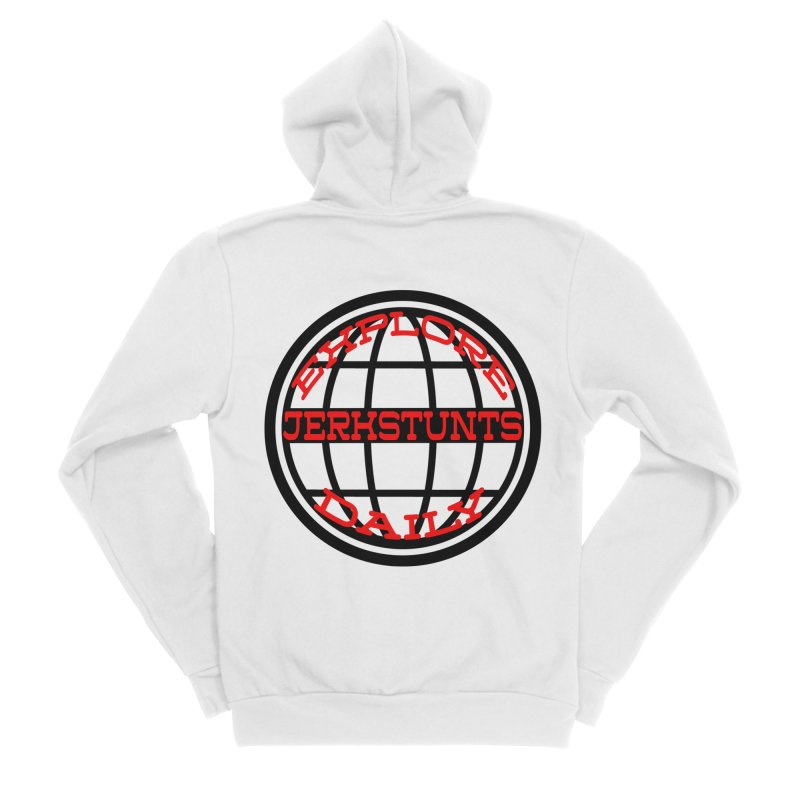 EXPLORE DAILY TECHGLOBE JERKSTUNTS Women's Sponge Fleece Zip-Up Hoody by ExploreDaily's Artist Shop