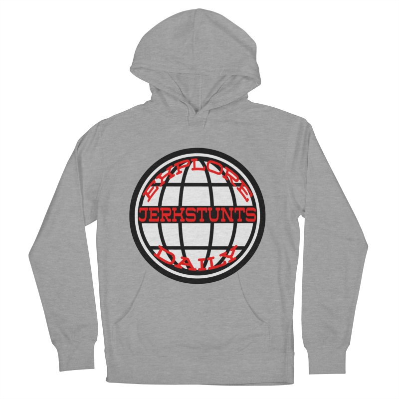 EXPLORE DAILY TECHGLOBE JERKSTUNTS Women's French Terry Pullover Hoody by ExploreDaily's Artist Shop