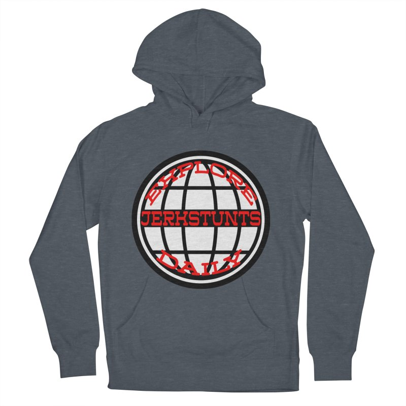 EXPLORE DAILY TECHGLOBE JERKSTUNTS Men's French Terry Pullover Hoody by ExploreDaily's Artist Shop