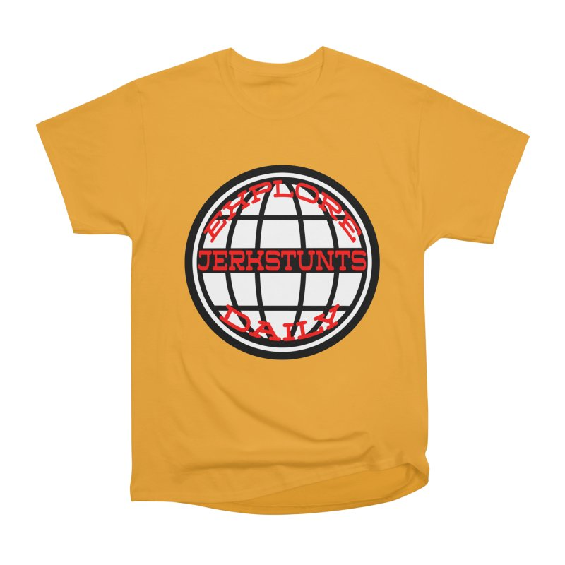 EXPLORE DAILY TECHGLOBE JERKSTUNTS Women's Heavyweight Unisex T-Shirt by ExploreDaily's Artist Shop