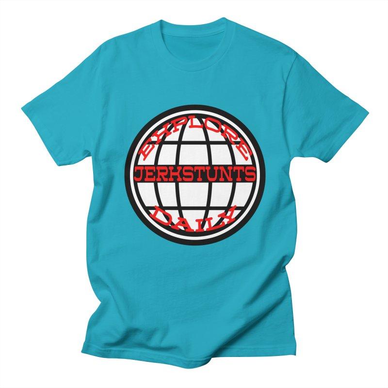 EXPLORE DAILY TECHGLOBE JERKSTUNTS Women's Regular Unisex T-Shirt by ExploreDaily's Artist Shop