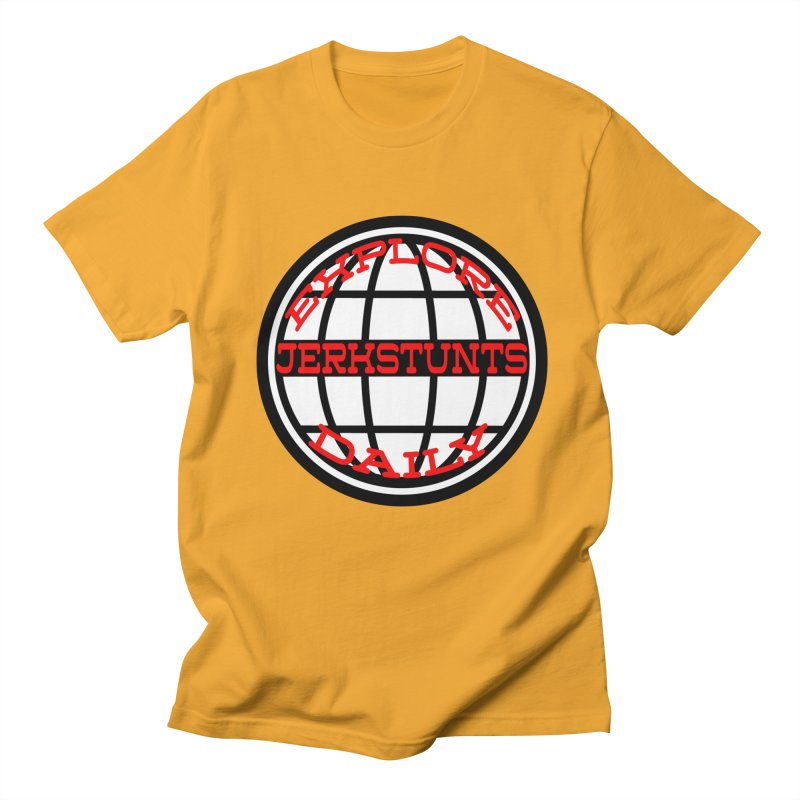 EXPLORE DAILY TECHGLOBE JERKSTUNTS Men's T-Shirt by ExploreDaily's Artist Shop