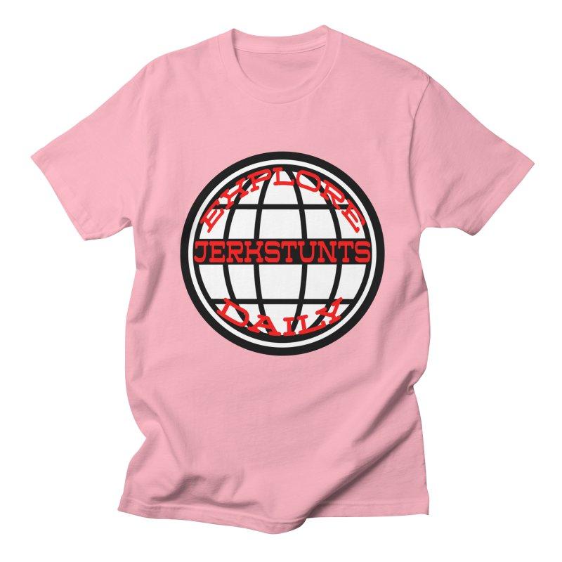 EXPLORE DAILY TECHGLOBE JERKSTUNTS Men's Regular T-Shirt by ExploreDaily's Artist Shop