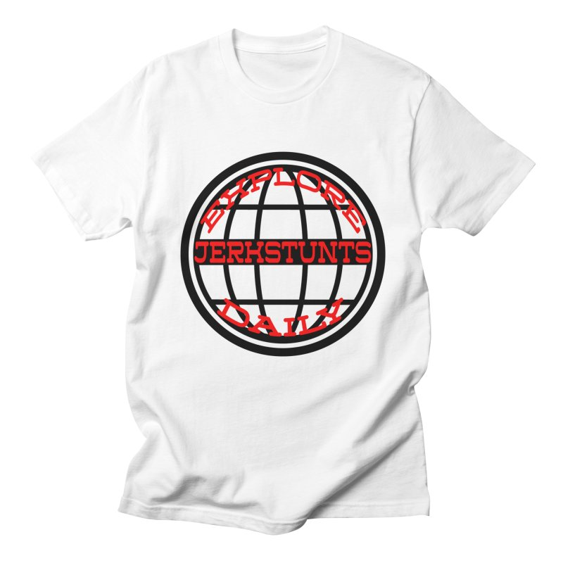 EXPLORE DAILY TECHGLOBE JERKSTUNTS Men's Regular T-Shirt by ExploreDaily's Artist Shop