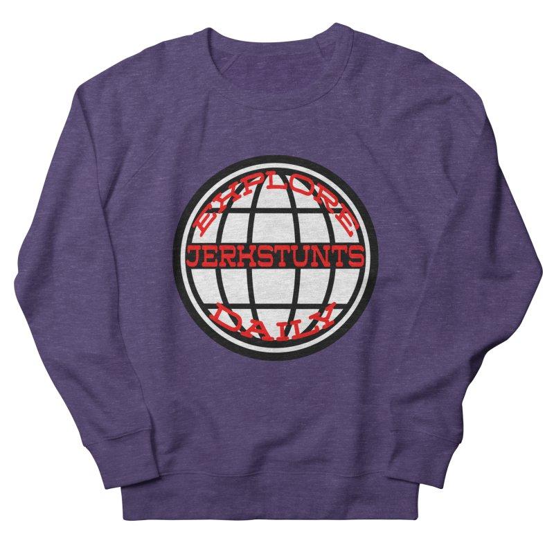 EXPLORE DAILY TECHGLOBE JERKSTUNTS Women's French Terry Sweatshirt by ExploreDaily's Artist Shop