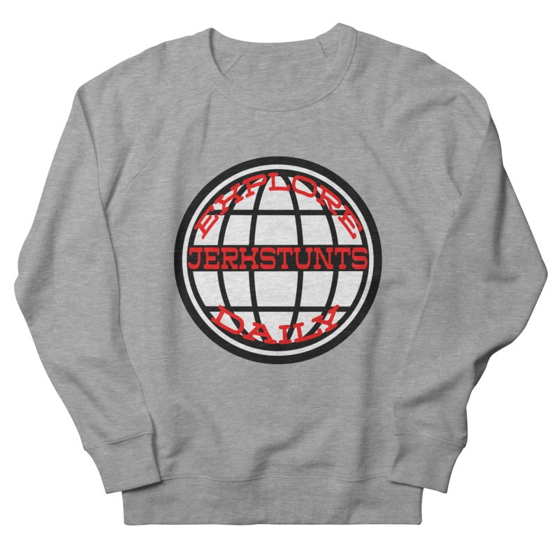 EXPLORE DAILY TECHGLOBE JERKSTUNTS Women's French Terry Sweatshirt by ExploreDaily's Artist Shop