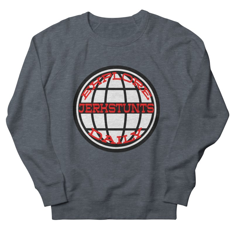 EXPLORE DAILY TECHGLOBE JERKSTUNTS Men's French Terry Sweatshirt by ExploreDaily's Artist Shop