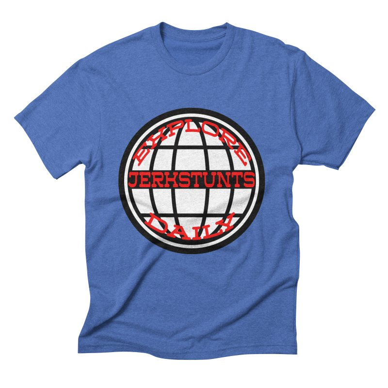 EXPLORE DAILY TECHGLOBE JERKSTUNTS Men's Triblend T-Shirt by ExploreDaily's Artist Shop