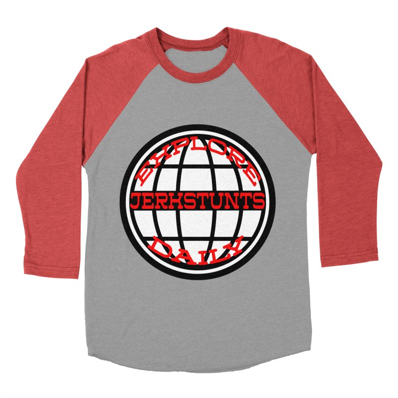 EXPLORE DAILY TECHGLOBE JERKSTUNTS Women's Baseball Triblend Longsleeve T-Shirt by ExploreDaily's Artist Shop