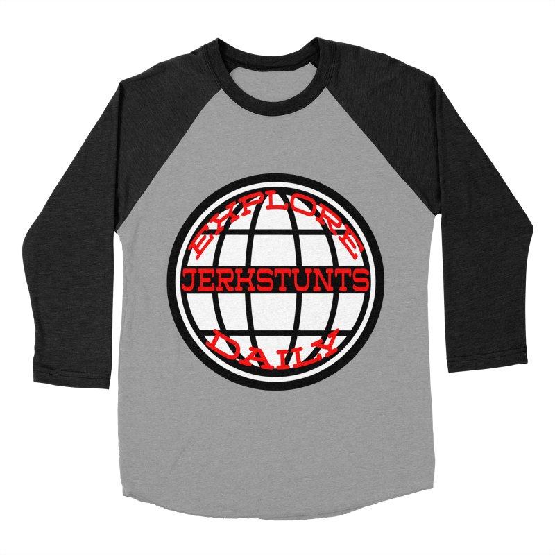 EXPLORE DAILY TECHGLOBE JERKSTUNTS Women's Baseball Triblend Longsleeve T-Shirt by ExploreDaily's Artist Shop